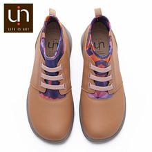 UIN Herbst/Frühling Elastische Knöchel Mode Stiefel Frauen/Männer Mikrofaser Wildleder Komfort Flache Schuhe Outdoor Stiefel Große Größen leichte(China)