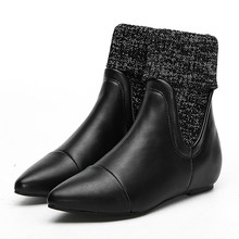 Gdgydh Yeni Varış Bayan Sonbahar Ayakkabı düz ayakkabı Kadın Sivri burun Ayak Bileği Chelsea Çizmeler Kadın Çeviklik Yüksek Kaliteli(China)