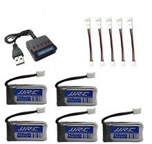 Oryginalna bateria JJRC H20 3.7V 260mAh dla JJRC H20 Syma S8 M67 U839 RC części do quadcoptera 3.7V bateria lipo + 3.7v USB zestaw z ładowarką(China)