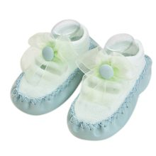 ถุงเท้าเด็กยาง Soles โบว์ถุงเท้าเด็กทารกแรก(China)
