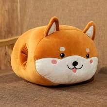 Новый прекрасный мультфильм животных теплая рука Диван Подушка милые Шиба ину кошка плюшевые игрушки в подарок на день рождения морковь до...(China)