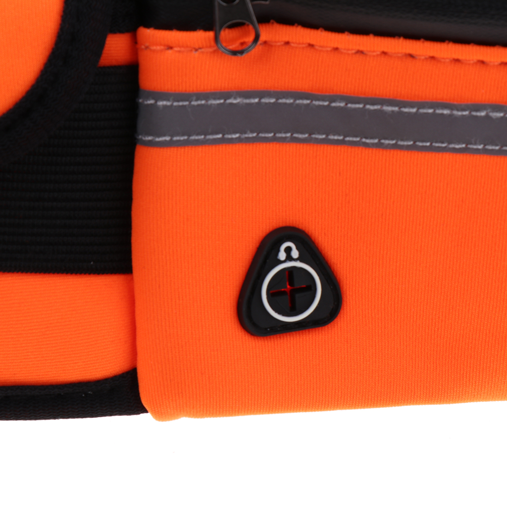 Neoprene Reflect Running Belt Jogging Cycling Waist Pouch Bag W/ Water Bottle Holder Running Belt for Outdoor Sports
