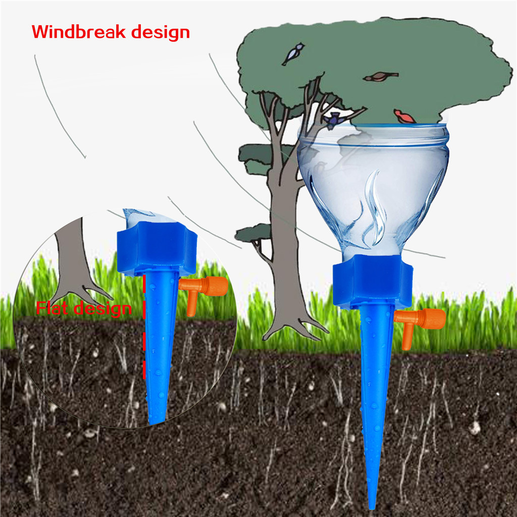 Vegetable Gardens YFFIREFLY Plant Self Watering Adjustable Stakes System Herbs Gardens 3Pcs//Set drip Irrigation Stakes,Automatic Vacation Drip Watering Bulbs Globes Stakes System for Flower beds
