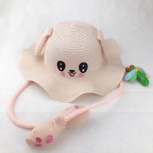 الصيف قبعات للحماية من الشمس لطيف الكرتون الرقص آذان أرنب وسادة هوائية قبعة الاطفال صياد قبعة القش للأطفال بنين بنات C55K بيع(China)
