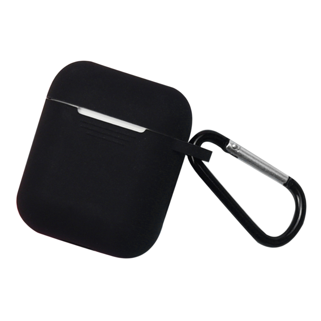 Full Protective Case Cover Portable Silicone Skin with Keychain for Earphone Charging Case