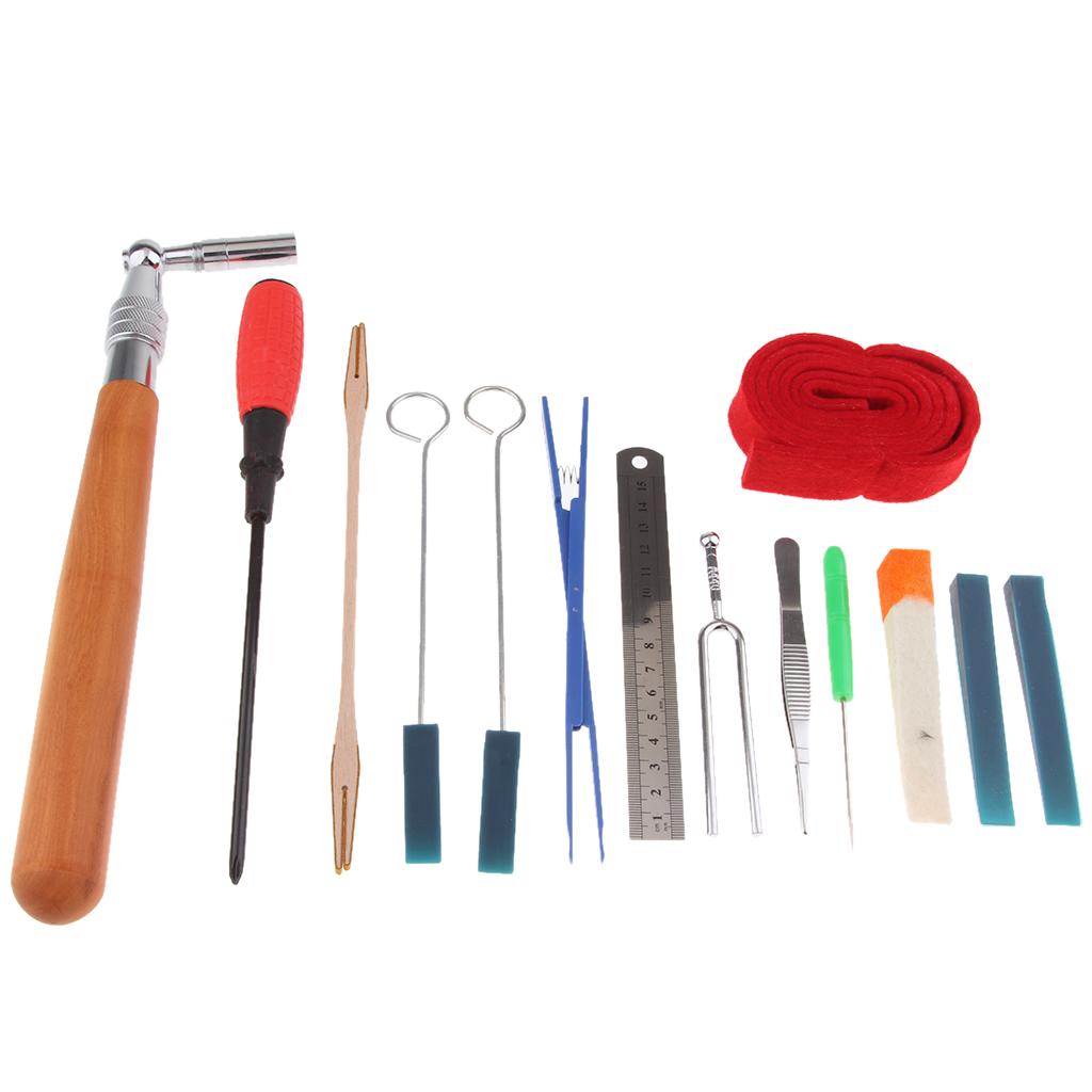 14Pcs Piano Tuning Products Professional Piano Repair Tool Kit Set