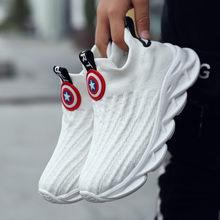 PINSEN 2019 Sonbahar erkek spor ayakkabı çocuk ayakkabı erkek seyahat rahat spor çorapları ayakkabılar Örgü işık çocuk nefes koşu ayakkabıları(China)