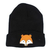 Baby Winter Hat Cartoon Baby Cap Fashion Baby Children Cap Fox Warm Winter Hats Knitted Wool Hemming Kids Hat czapki dla dzieci(China)