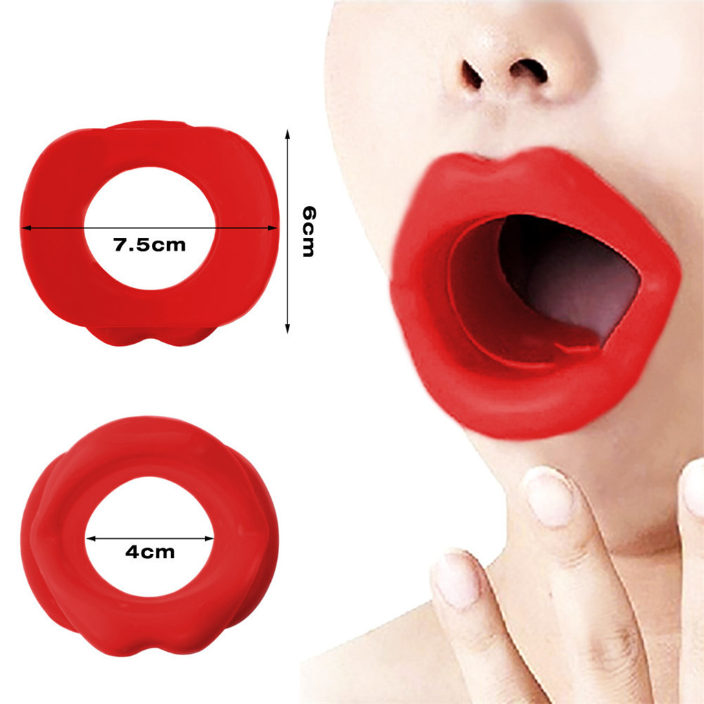 Silicone Face Slimmer, Rubber Mouth Tightener Anti-wrinkle Anti-aging Face Muscle Exercise Lip Trainer Stretcher Face Lift