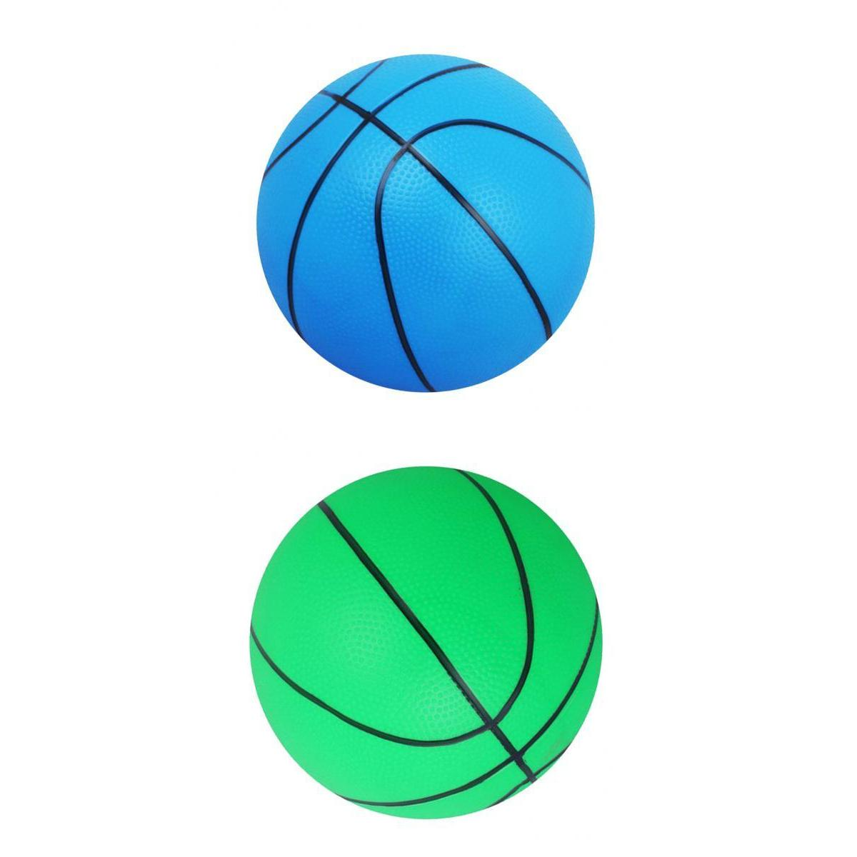 Verde perfeclan 2X Mini Basketball Indoor//Outdoor Sports Ball Juguete para Ni/ños Regalo-Azul