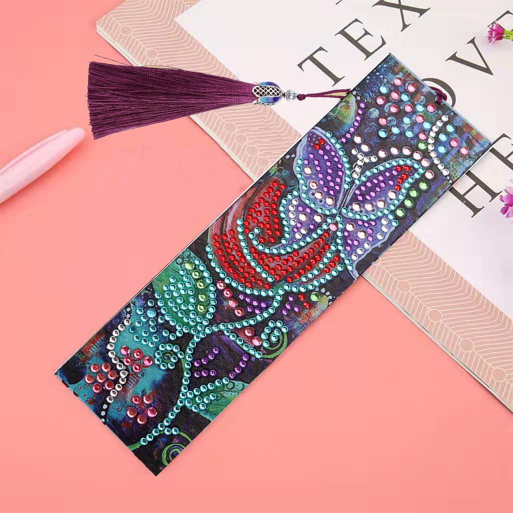 Crystal Diamond Painting Kits Tassel Bookmark DIY Craft Office School Supplies