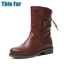 KARINLUNA ใหม่ขนาดใหญ่ 34-43 Elegant ข้อเท้ารองเท้าบู๊ตผู้หญิง 2019 ฤดูหนาวสบายๆส้นรองเท้าแพลตฟอร์มรองเท้า...(China)