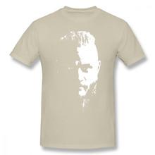 HKFZ Ragnar Lothbrok T Shirt Ragnar z koszulka z motywem wikingów męska koszulka z krótkim rękawem śliczne 6xl 100 bawełna drukuj plaża Tshirt(China)