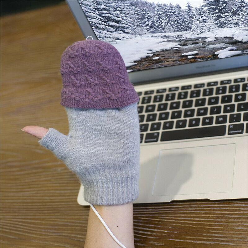 para ordenador port/átil manos completas y medias calentadas sin dedos MNJM c/álido Guantes calentados por USB para mujer hombre guantes de invierno