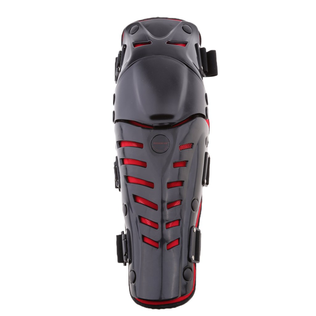 Motorcycle Elbow Knee Protector, Knee Shin Guard Pads Support Protectiver Armor for Motorbike Cycling Racing (Black&Red)