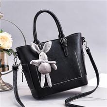 21 clube marca de moda linha simples cor sólida senhoras totes escritório compras versátil casual feminina mensageiro saco bolsas femininas(China)