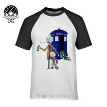 2020 gran oferta camiseta blanca de doctor who ricka y morty de manga corta con cuello redondo de Dr Who camiseta de estilo Casual con estampado de marca(China)