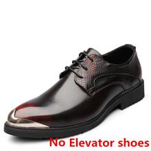 Брендовые Мужские модельные туфли; Итальянская обувь, увеличивающая рост; Мужская официальная кожаная обувь под платье; Элегантная мужская...(China)