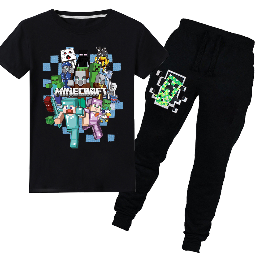 Minecraft T-Shirt Boys /& Girls 12-13 Diamond Armour