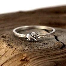 Новые модные серебряные ювелирные изделия для пары винтажные кольца с животными для женщин милые кольца со слонами для свадебный подарок д...(China)