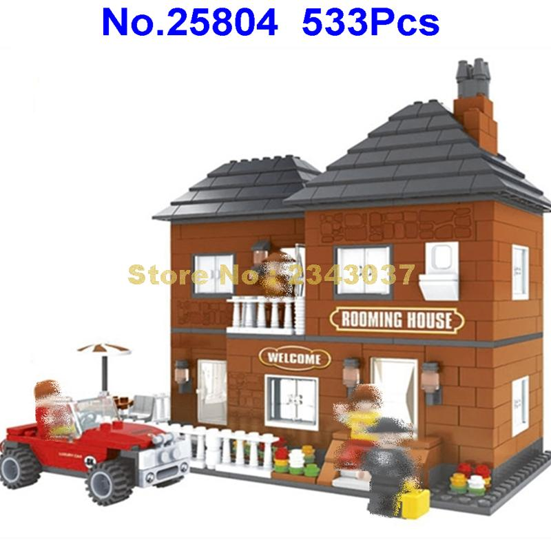1298Pcs Villa House Architecture Building Blocks Educational DIY Toys Gift NOBOX