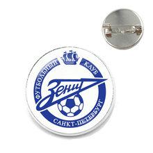 FC Zenit Saint Bros Rusia Tim Sepak Bola Simbol Logo Sepak Bola 20 Mm Kaca Cabochon Kerah Pin untuk Para Penggemar Hadiah(China)