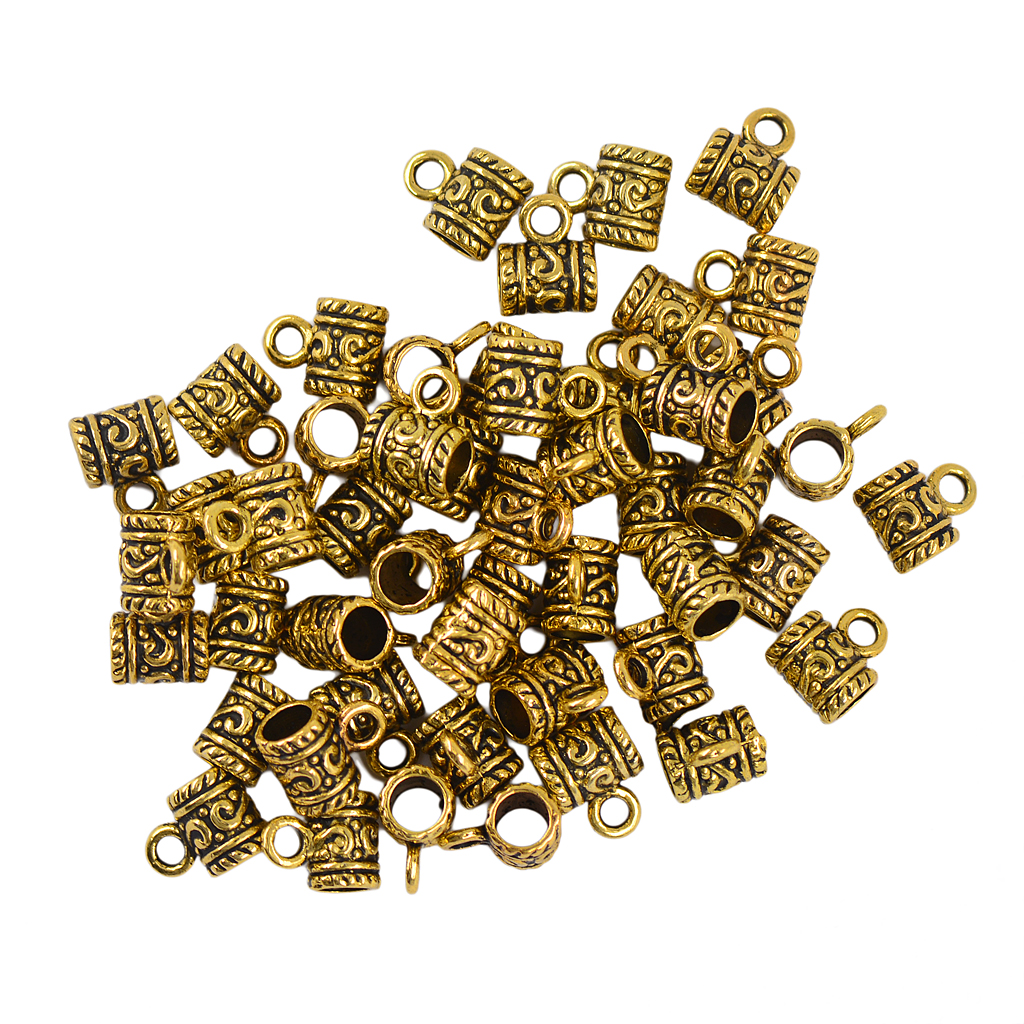 50 Pcs Bright Bali Alloy Daisy Spacers Beads For Jewelry Making Necklace