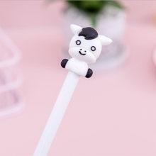 1 шт./лот 0,5 мм мультяшная гелевая ручка с животными черные чернила ручная учётная запись для написания Kawaii для школьного письма новые канцел...(China)
