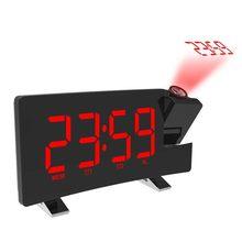セットデジタル LED プロジェクター投影スヌーズアラーム時計ラジオ時間バックライト(China)