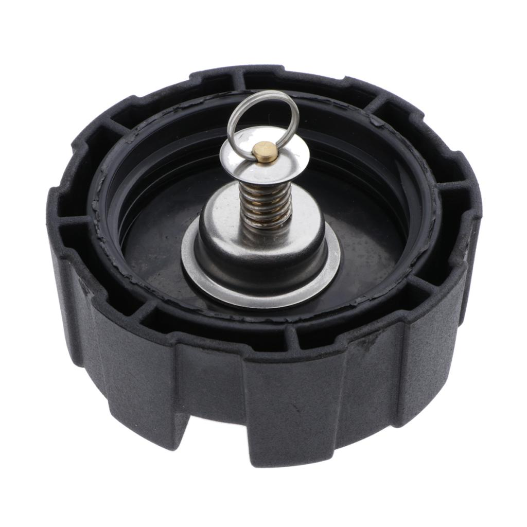 Boat Fuel Oil Tank Cap Cover Screw in Assembly Replacement for Yamaha 12L 24L Outboard Engine Parts - Black
