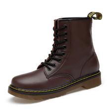 HTUUA 35-46 Da Thật Chính Hãng Da Giày Bốt Nữ Thu Đông Lông Ấm Áp Mắt Cá Chân Martens Giày Người Phụ Nữ Cặp Đôi Giày Tiến Sĩ Xe Máy giày SX3348(China)