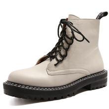Doratasia 2020 große größe 43 Mode Martin Stiefel marke design Stiefeletten Frau Schuhe schnürsenkel coole Schuhe Frauen Stiefel weibliche(China)