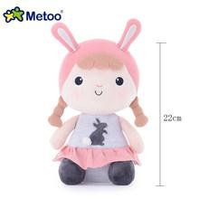 100% orijinal 43cm hakiki Metoo bebek dolması peluş hayvanlar çocuklar oyuncak kız çocuklar için Kawaii bebek Angela tavşan yumuşak lols bebek(China)
