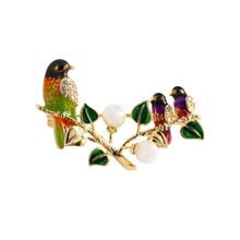 Neoglory Lucu Enamel Oriole Burung Bros untuk Wanita Desain Baru Hewan Pin Tampilan Perhiasan Tahun Baru Hadiah Ulang Tahun untuk Teman(China)