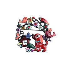 高品質かわいい犬ブローチカラフルな花の鳥金属エナメルブローチとピンのためのラペルピンバックパックバッジ女性ガールジュエリ(China)