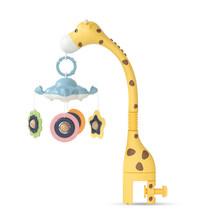 Baby rattles Crib móviles soporte de juguete giratorio 360°rotación flexible móvil cuna de recién nacido caja Musical proyección infantil juguete de bebé(China)