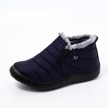 Mcckle Ủng Nữ Giày Nữ Ấm Sang Trọng Lông Cổ Chân Giày Mùa Đông Nữ Slip On Đế Bằng Chống Nước Siêu Nhẹ Giày(China)