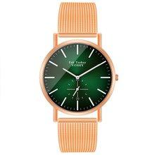 Mode Femme moderne femmes montres or Rose Quartz montre-bracelet femmes montres maille sangle décontracté dames montre Reloj Mujer(China)