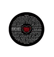 Kustom Proyeksi Jantung Kalung Nama Kustom Warna Gambar dengan Teks Kalung Pasangan Kekasih Perhiasan Gratis Dropshipping(China)