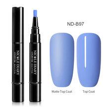 NICOLE DIARY 56 цветов, УФ-Гель-лак для ногтей, ручка для ногтей, шаг 3 в 1, цветной гель для дизайна ногтей, Матовый верхний слой, впитывается(China)