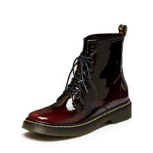 Prova Perfetto nữ Nữ Mắt Cá Chân Giày Boots Mùa Đông Xuân Da Thật Chính Hãng Da Buộc dây Giày Punk Plus Đi Equestr 43(China)