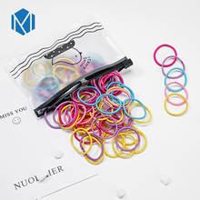 M MISM 100 Uds 2CM niños bandas elásticas de nailon sólidos flexibles colores caramelo Scrunchies chico gomas de pelo accesorios(China)