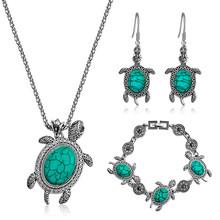 Vintage Antike Silber Oval Halskette Armband Ohrring Charme Anhänger Baumeln Schmuck Set für Frauen Shellhard Schmuck weiblichen geschenk(China)