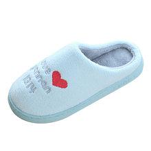Slip Op Indoor Slippers Vrouwen Leuke Warme Katoen Zachte Pluche Thuis Slippers Vrouwen Slippers Bodem Zachte Thuis Schoenen zapatos de mujer(China)