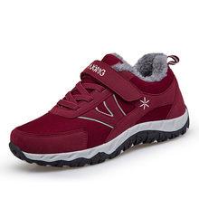 Bộ Sạc Pinsen Mùa Đông 2020 Thời Trang Nữ Giày Nữ Cột Dây Thoải Mái Giày Người Phụ Nữ Ngoài Trời Giữ Ấm Mẹ Giày Zapatillas Mujer(China)
