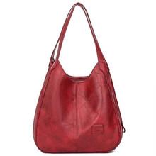 2019 novo couro do vintage bolsas de luxo bolsas femininas sacos designer famosa marca feminina sacos de grande capacidade para as mulheres sac(China)