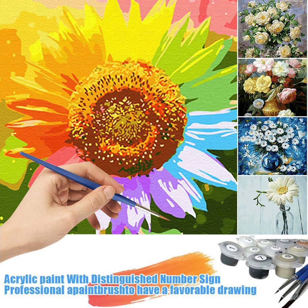 Women And Flowers 40 x 50 cm Painting By Numbers Kit On Canvas N10