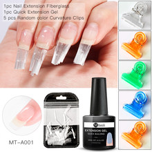 Fibre de verre ongles Extension Gel ensemble acrylique conseils Fiber de verre Extension feuille de fibres pour Extension d'ongle acrylique conseils outil de manucure(China)