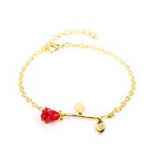 23 modele akcesoria mody uroczy choker złota róża oświadczenie naszyjnik kobiety jest piękna i bestia biżuteria prezenty dla zakochanych(China)
