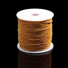 10 m/sac 1mm cordon élastique rond perles fil extensible/chaîne/corde pour collier Bracelet fabrication de bijoux approvisionnement(China)